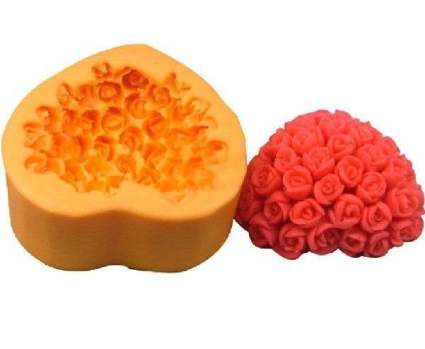 Valentine's day Heart Rose Silicone Soap DIY Mold Craft Art Tool