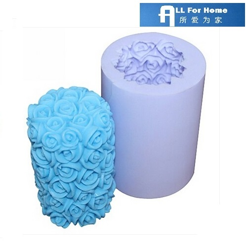 Allforhome™ Rose Silicone Candle molds Soap mold Craft Moulds