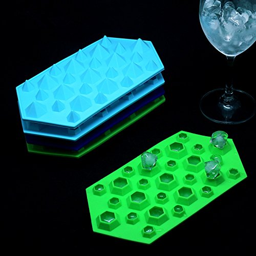 Allforhome™ 3d Diamonds Gem Cool Ice Cube Chocolate Soap Tray