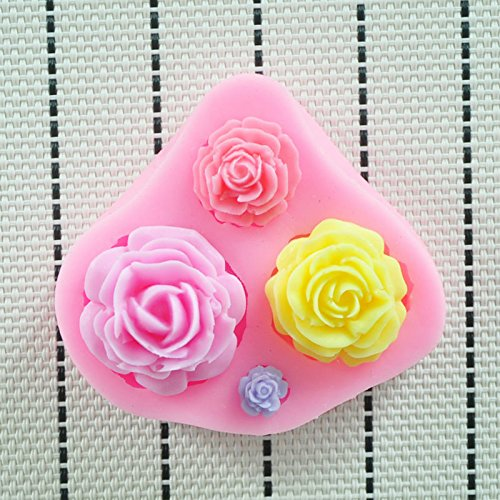 Allforhome™ 3 Cavity Mini Flower Sugar Resin Craft DIY Mold