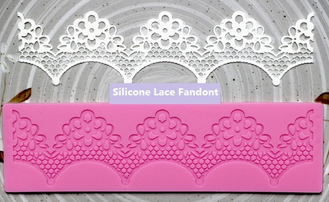Allforhome™ Silicone Lace Embossing Fondant Cake Decorating Mold - Click Image to Close